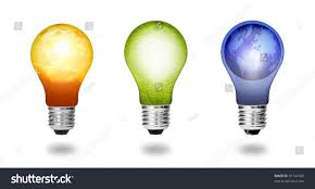 New Leaf Light Bulbs Future Eco Energy Saving Concept Collection Royalty Free
