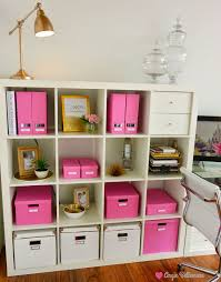 ikea office organizers. ♡NEW OFFICE Ikea Storage And Organization Pink Boxes From Ikea Apothecary  Jar Accent Office Organizers A