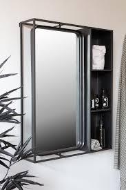 industrial style metal bathroom mirror