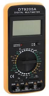 <b>Мультиметр</b> цифровой <b>TEK DT</b> 9205A — купить по выгодной ...