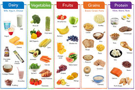 Make A Chart Of Balanced Diet Five Food Groups Balanced Meals Healthy Eating