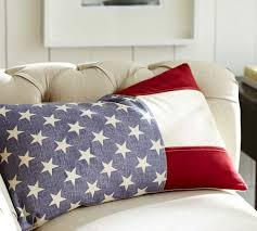 American Flag Lumbar Pillow Cover
