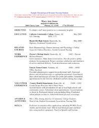 Resume For Nursing School Resume Cover Letter Template