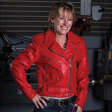 allstate leather inc women s red leather motorcycle jacket