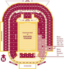 Arizona Stadium Seating Chart Arizona State Sun Devils 2017 Football Schedule