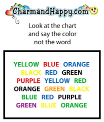 Charmandhappy Com Color Chart Game Say The Color Not The