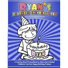 Ryans Birthday Coloring Book Kids Personalized Books A Coloring
