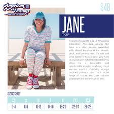 Jane Lularoe Americana In 2019 Lularoe Size Chart