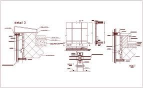 door jamb detail plan. Construction Detail Of Door Frame With View Dwg File Jamb Plan