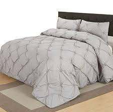 pinch pleat duvet cover. Contemporary Duvet A Nice Night Light Grey Pinch Pleat Duvet Cover Set Microfiber Queen And