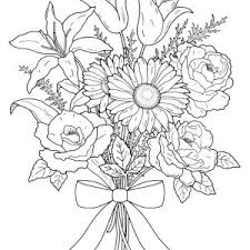 Small Picture Bouquet Of Flowers Coloring Page Rose Vase Coloring Page Bouquet