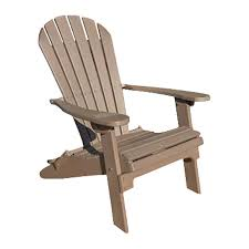 Phat Tommy Weatherwood Recycled Poly Folding Patio Adirondack Chair