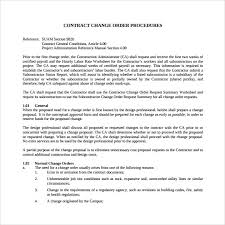 Project Change Order Template Sample Change Order Template 12 Free Documents In Pdf Word