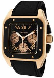 cartier watches watch brands valuable watch guide on mens and cartier w2020003 watches men s santos 100 xl automatic chrono 18k rose gold case black toile