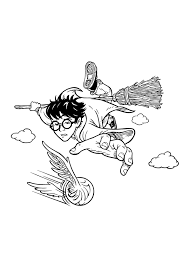 Includes coloring page & color by number fun. Free Printable Harry Potter Coloring Pages For Kids
