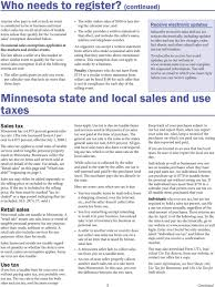 Minnesota Sales And Use Tax Pdf