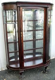 curio cabinets with glass doors sweet ideas china cabinet glass doors antique with new custom curved