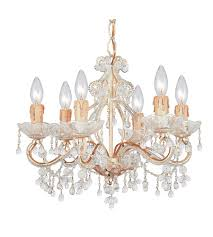 crystorama paris flea market 6 light mini chandelier in champagne clear crystal 4507 cm clear