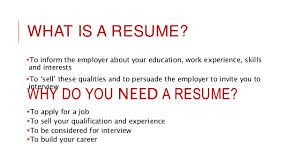 What Is A Resume Cv Resume