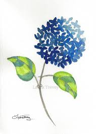 hydrangea watercolor painting