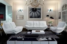 White Leather Chairs For Living Room Contemporary Leather Sofa Sets