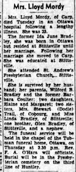 MORDY, Ida (Bradley) obit 1955 - Newspapers.com