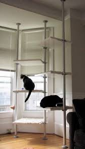 This first DIY project is pretty straightforward and uses just Stolmen  parts. See how the shelves are stair-stepped so the cats will have an easy  time ...