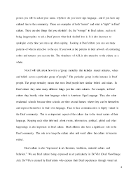 final essay defend deaf culture  deaf 2