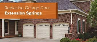 how to replace garage door extension