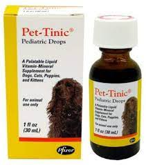 Amazon.com : Pet-Tinic Pediatric Drops for Dogs, Cats, Puppies and Kittens,  1 oz. (30 ml) by Unknown : Pet Multivitamins : Pet Supplies