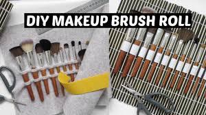 diy makeup brush roll travel case 2 ways
