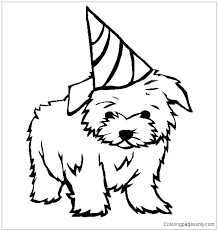 Cute Dogs Coloring Pages Cute Dogs Colouring Pages