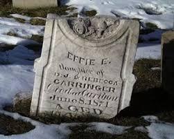 Tombstone Tuesday - Effie E. Carringer (1858-1874) - Genea-Musings