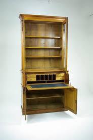 b304 antique scottish victorian oak secretary fall front desk bookcase cabinet for 4