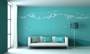 wall painting designsbluewallpaintingdesignideasforlivingroom  Home Furniture