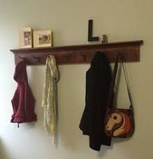 Extra Long Coat Rack Wall Coat Rack Railroad Spike Hooks Rustic Red Sedona Finish ID 34