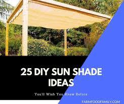 25 easy diy sun shade ideas for your