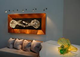 wall mounted track lighting system.