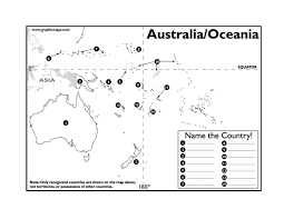 page 1 australia oceania map test docx geography pinterest Map Asia Test page 1 australia oceania map test docx map of asia test