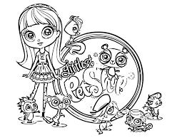 Littlest Pet Shop Coloring Pages Lps Cat 5 Futuramame