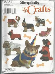 Dog Costume Patterns Gorgeous Simplicity 48 Dog Costumes For Small To By BastetsCraftyShack