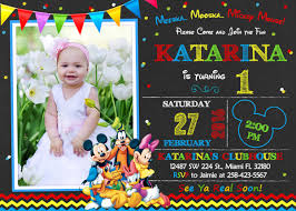 Mickey Mouse Clubhouse 2nd Birthday Invitations 8 Mickey Mouse Birthday Invitation Designs Templates