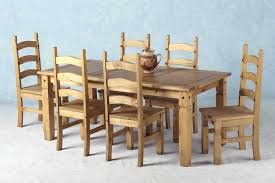 corona mexican pine dining set 6 dining table 6 chairs
