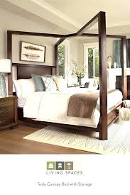 Wooden Canopy Beds Remarkable Bed Frame With Wood King – cruiseports.co