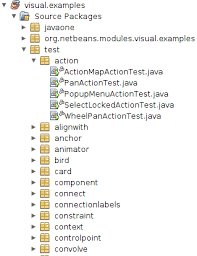 example of org netbeans visual library examples
