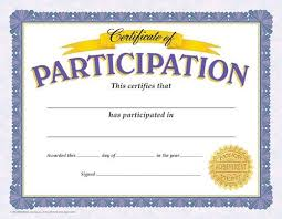 Certificate Of Participation Templates Certificate Of Participation Reward Your Students For Their