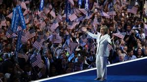 hillary w flags