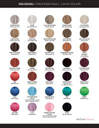Paul Mitchell Color Chart 2018 Paul Mitchell Professional In 2019 Paul Mitchell Hair