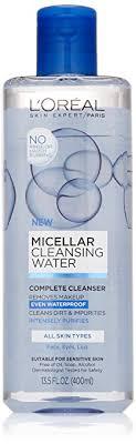 l oreal paris micellar cleansing water cleanser waterproof makeup remover