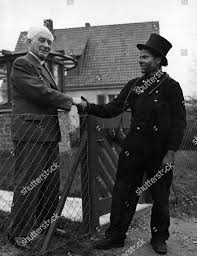 Chimney Sweeper Professor Max Born Shakes Hands Chimney Sweep Editorial